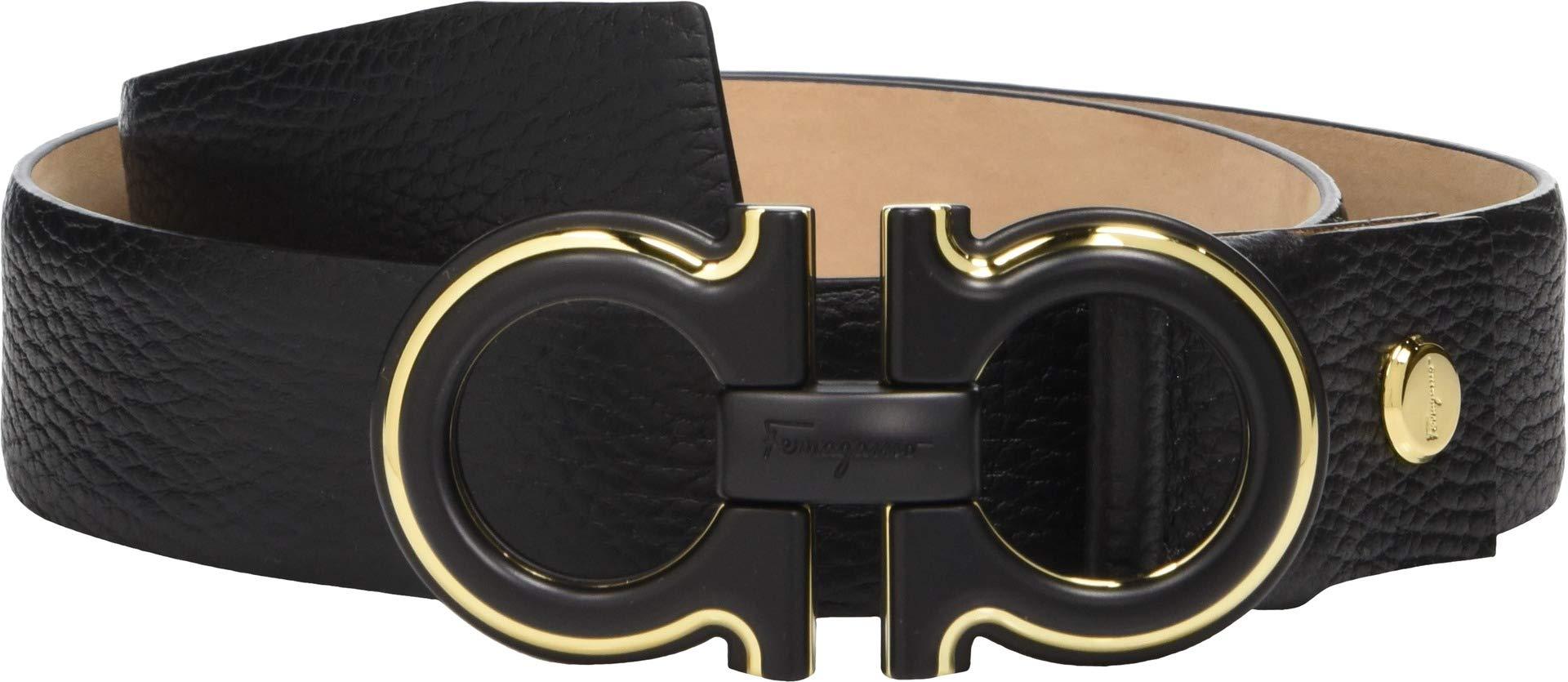 Salvatore Ferragamo Men's Adjustable Belt - 67A005 Black 1 36