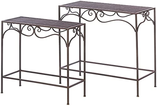 Accent Plus Dark Brown Rectangular Nesting Tables Set