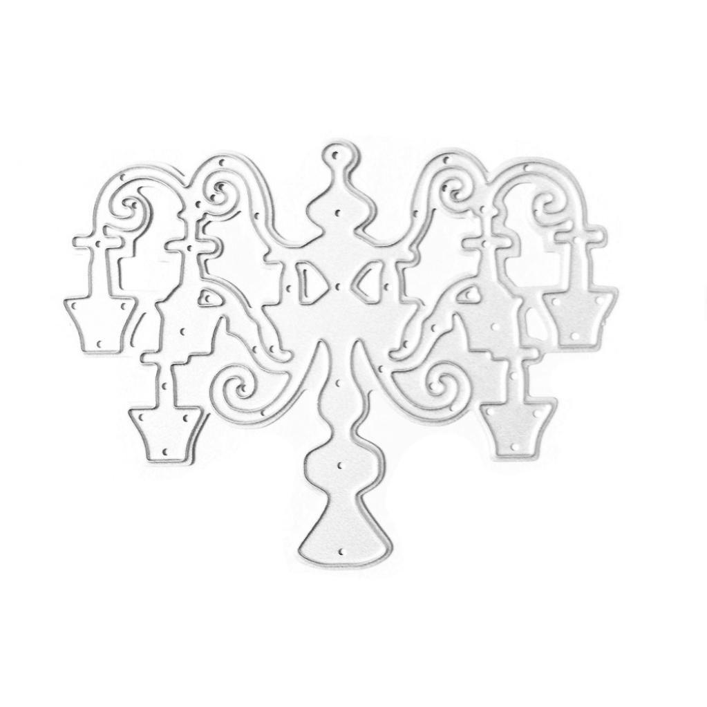Botrong Cute Metal Cutting Dies Stencil DIY Scrapbooking Embossing Album Paper Card Craft (C:7559mm)