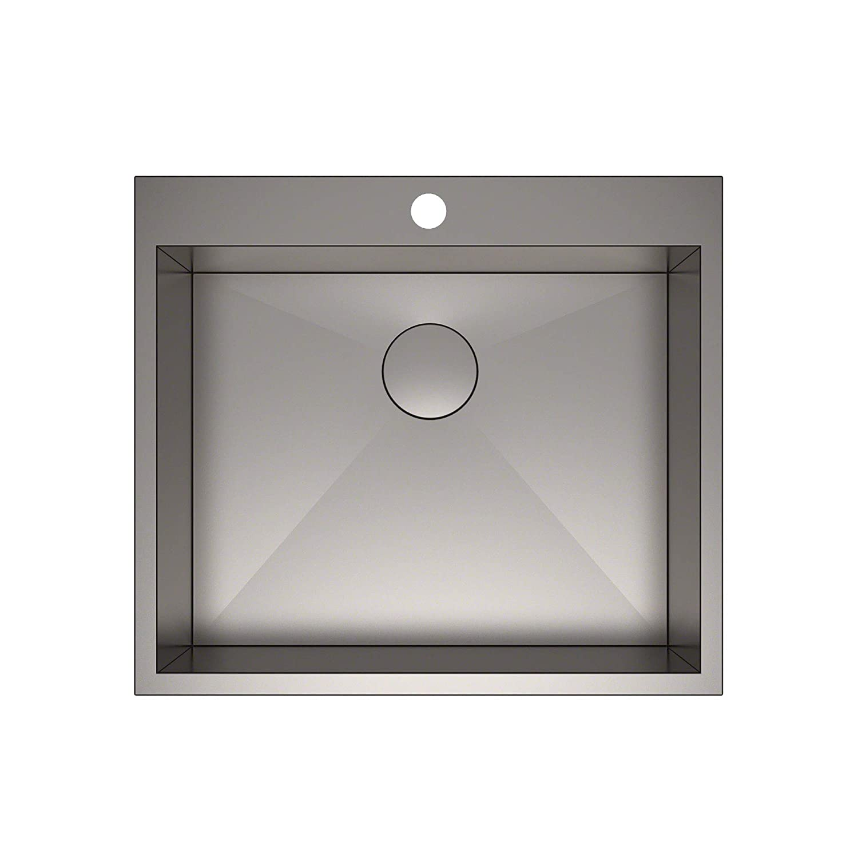 Kraus kp1ts25s 1 pax kitchen sink single bowl 25 inch 25 x 22 x 9 1 hole amazon com