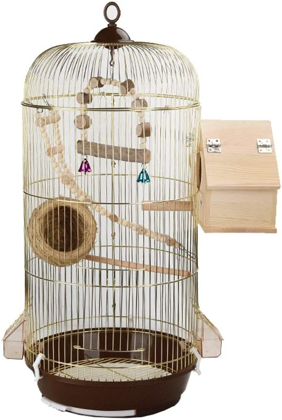 Nostalgie Jaula de Pájaros con Soporte para Loros Parakeets Que Cría Vuelo Grandes Pajaritas para Canario Pinzón Lovebird Parrootlet Conure Cockatiel