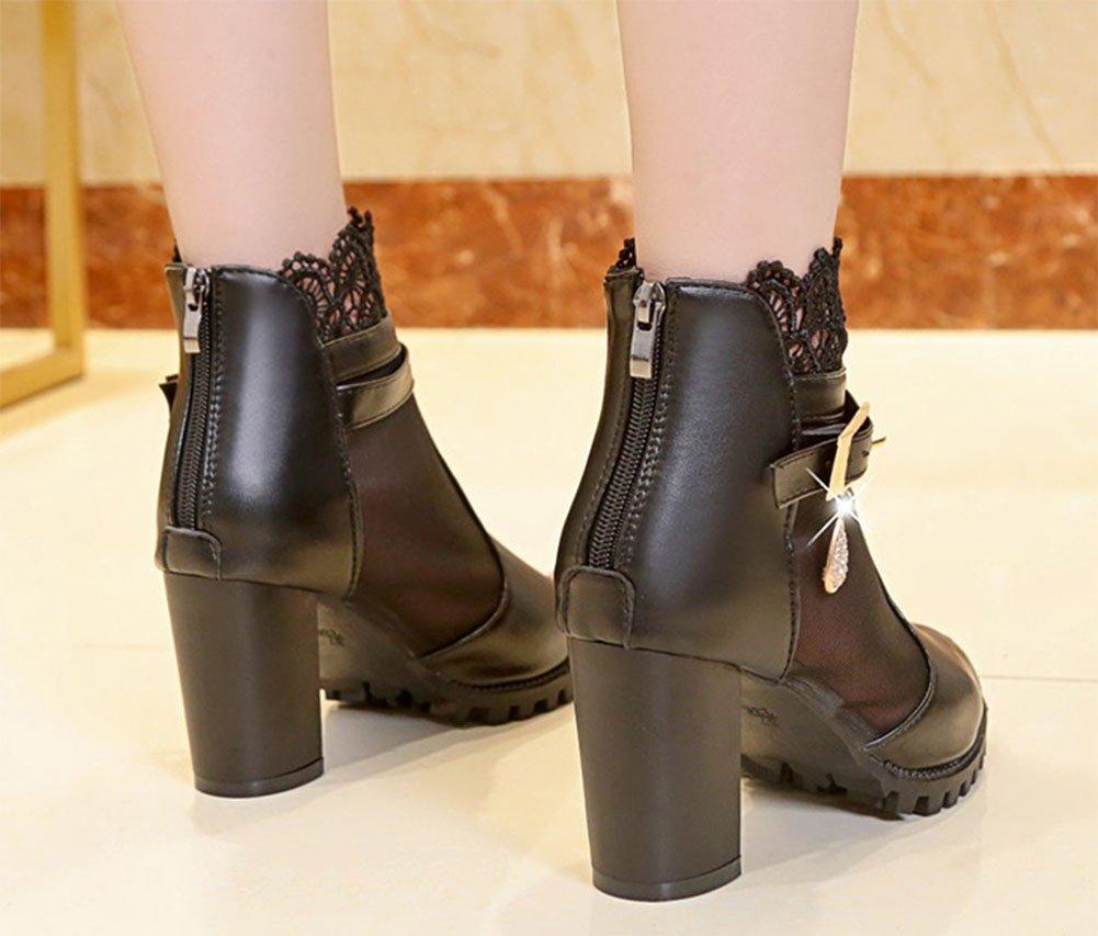 MEILI Wild Mesh Sandalen Fisch Fisch Fisch Mund hoch Hilfe Sandalen rauh hochhackigen Damenschuhe Frühling und Sommer Schuhe der einzelnen Schuhe der Frauen 61217e