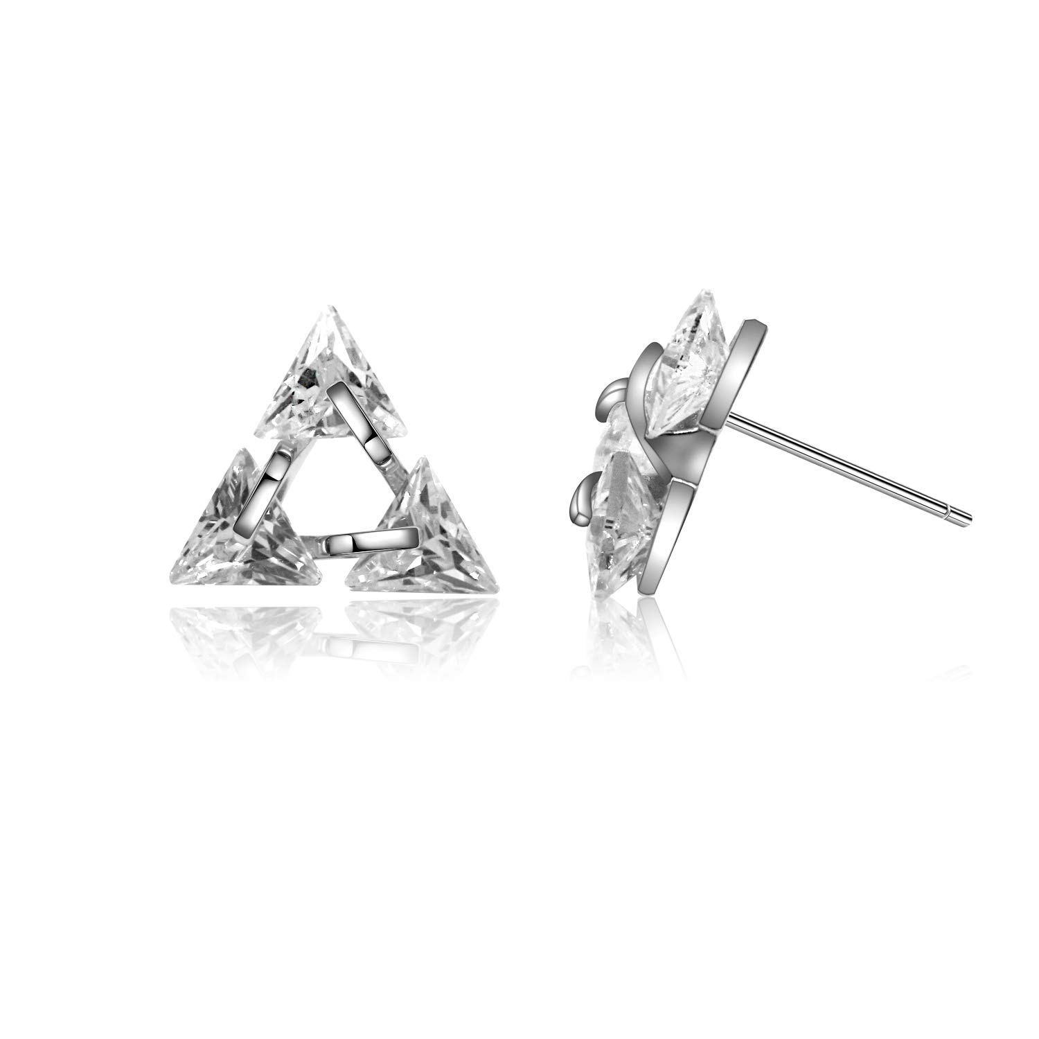 Sanche Delicate Triangle Earings Stud Best Handmade Gift with Fine Gift Box