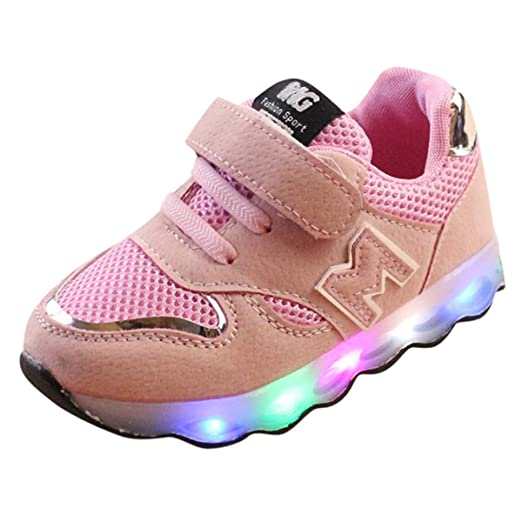 3c92c588fcef Amazon.com  KONFA Teen Baby Boys Girls LED Light Up Sneakers