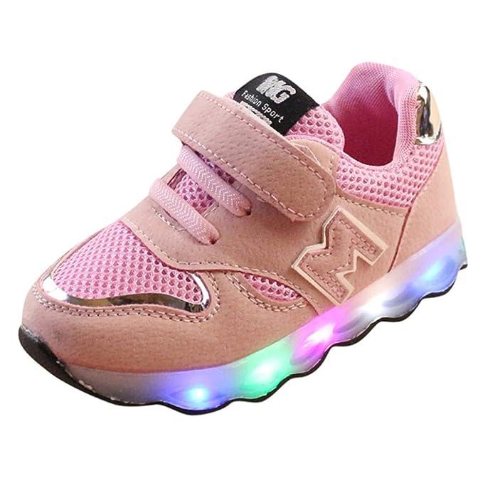 KONFA Teen Baby Boys Girls LED Light Up Sneakers,for 1-6 Years old,Kids  Luminous Mesh Sport Shoes