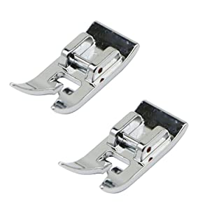 STORMSHOPPING 2 Pcs Universal General Purpose Zig Zag Foot for Singer, Brother, Janome, Kenmore, babylock, Toyota, etc. Domestic Low Shank Sewing Machines