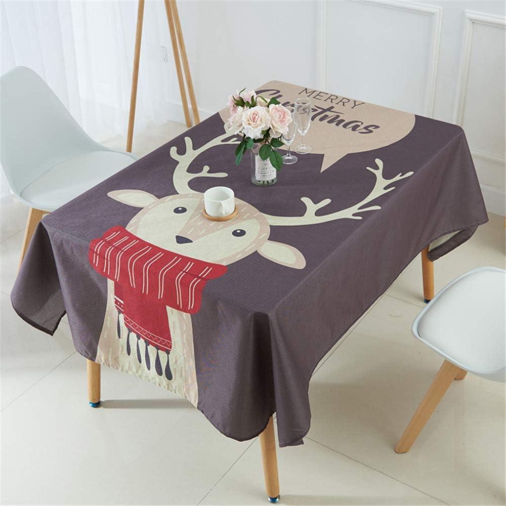 DHHY Mantel de Lino cifrado Serie de Navidad Mantel Impermeable de Tela Mantel de Vacaciones en casa J 60x60cm / 24x24in: Amazon.es: Hogar