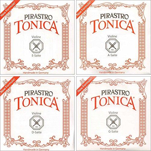 (Pirastro Tonica 4/4 Violin String Set - Medium Gauge with Loop End Aluminum E)