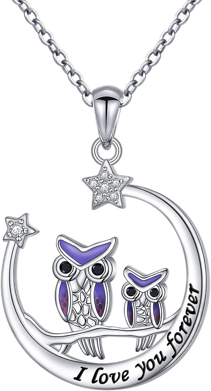 owl gift owl jewelry big sis gift horned owl necklace sorority jewelry bird jewelry woodland jewelry Owl initial necklace