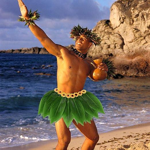 Sue-Supply Hojas de simulación Falda de Hula Fiesta Hawaiana Falda ...