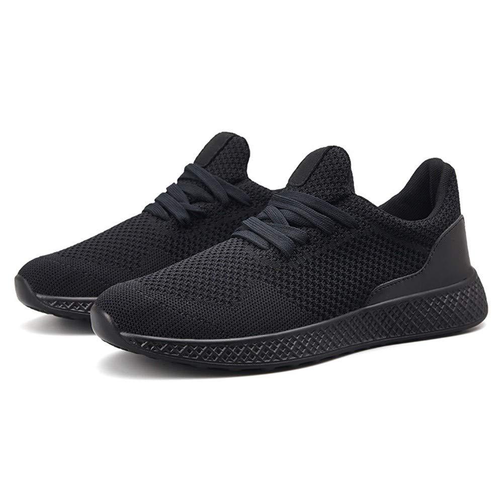 HCBYJ Elastische Schuhe Große Größe Fliegen Gewebte Schuhe Männer atmungsaktive Hohl Mesh Sportschuhe Student Mode Licht Laufen