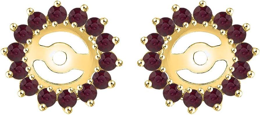 KATARINA Diamond Earring Jackets in 14K Gold 3//8 cttw Color IJ, Clarity I1