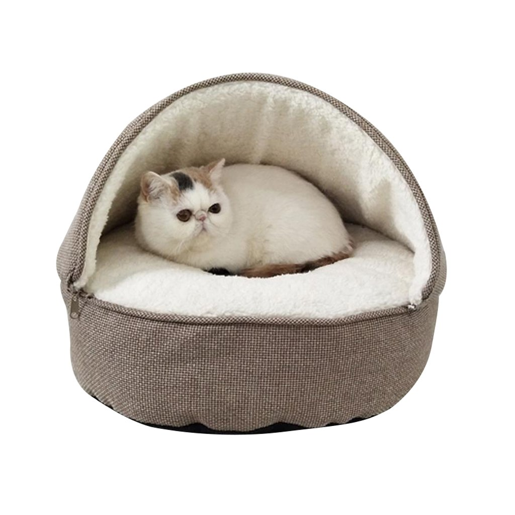A XINGZHE Pet bed Kennel Teddy VIP Cat Small Dog Bed Pet supplies Indoor foldable wearresistant biteresistant pet nest Pet bed (color   C)