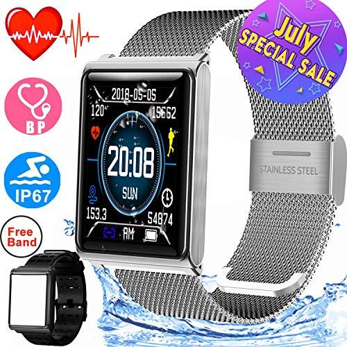 - Smart Watch for Men Women IP67 Waterproof Sport Fitness Tracker with 1.5