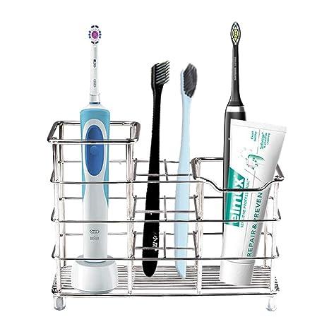 Amazon.com: Soporte de metal para cepillos de dientes de ...