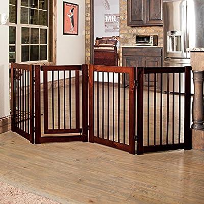 Primetime Petz 360 Configurable Gate with Door 30 in. - Walnut