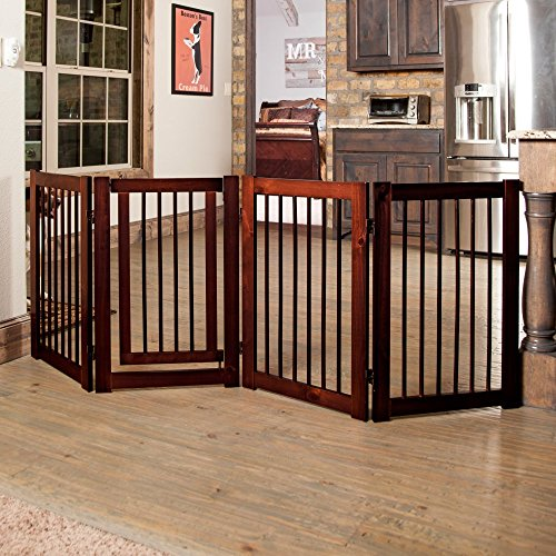 Primetime Petz 360 Configurable Gate with Door 30 in. – Walnut 61CRY0RTrLL