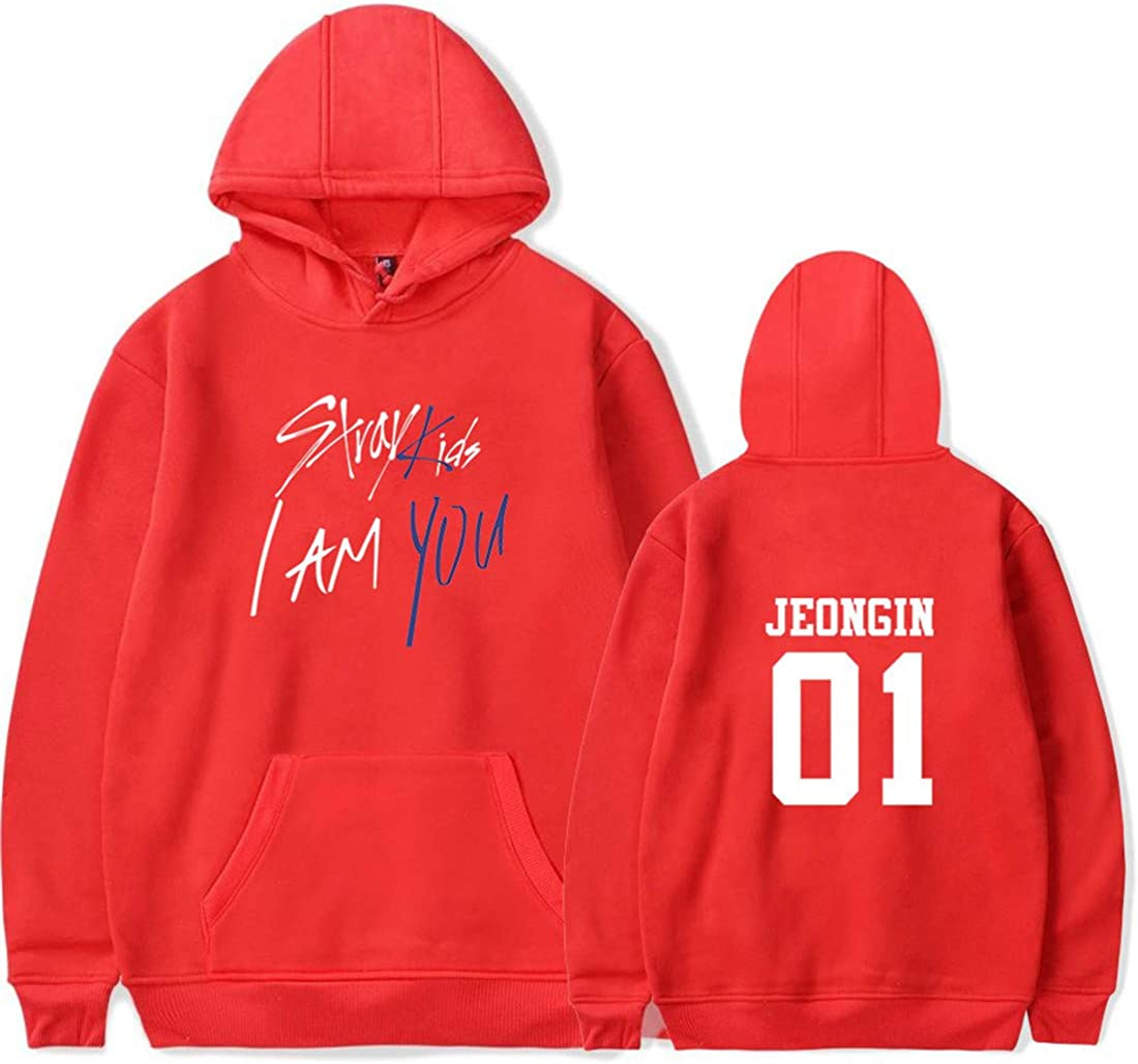 Stray Kids Fans Kpop Pull Manche Longue D/écontract/é Hoodies Sweat-Shirt pour Femme Homme Imprim/é Chaud qianchuangyuan Unisexe Sweat /à Capuche