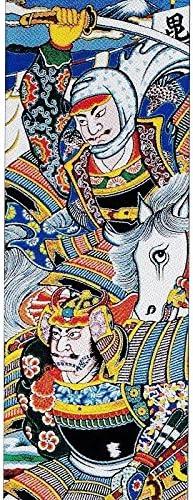 [大畑の武者絵幟][節句のぼり][武者絵のぼり]上杉謙信[3.3m]15号[ポール別売]家紋2ケ入り[日本の伝統文化][五月人形]