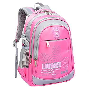 Amazon.com | Heavy Duty Sturdy Backpack Kids Schoolbag Students ...