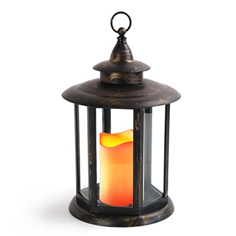 Amazon.com: BRIGHT ZEAL HEXAGON Candle Lantern With LED Candles w ...