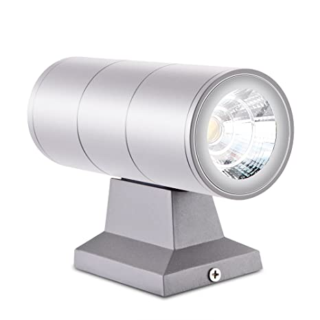 6//10W COB LED RGB Dual-Head Up/&Down Wall Mount Light Sconce Lamp Outdoor 6 Color