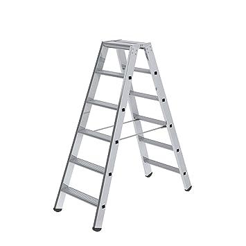m 2,25 Stehleiter beidseitig begehbar m nivello Stufen Arbeitsh/öhe bis ca