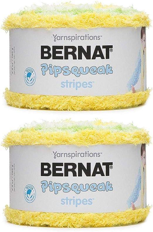 Bernat Pipsqueak Stripes Yarn, Daffodil 2-Pack