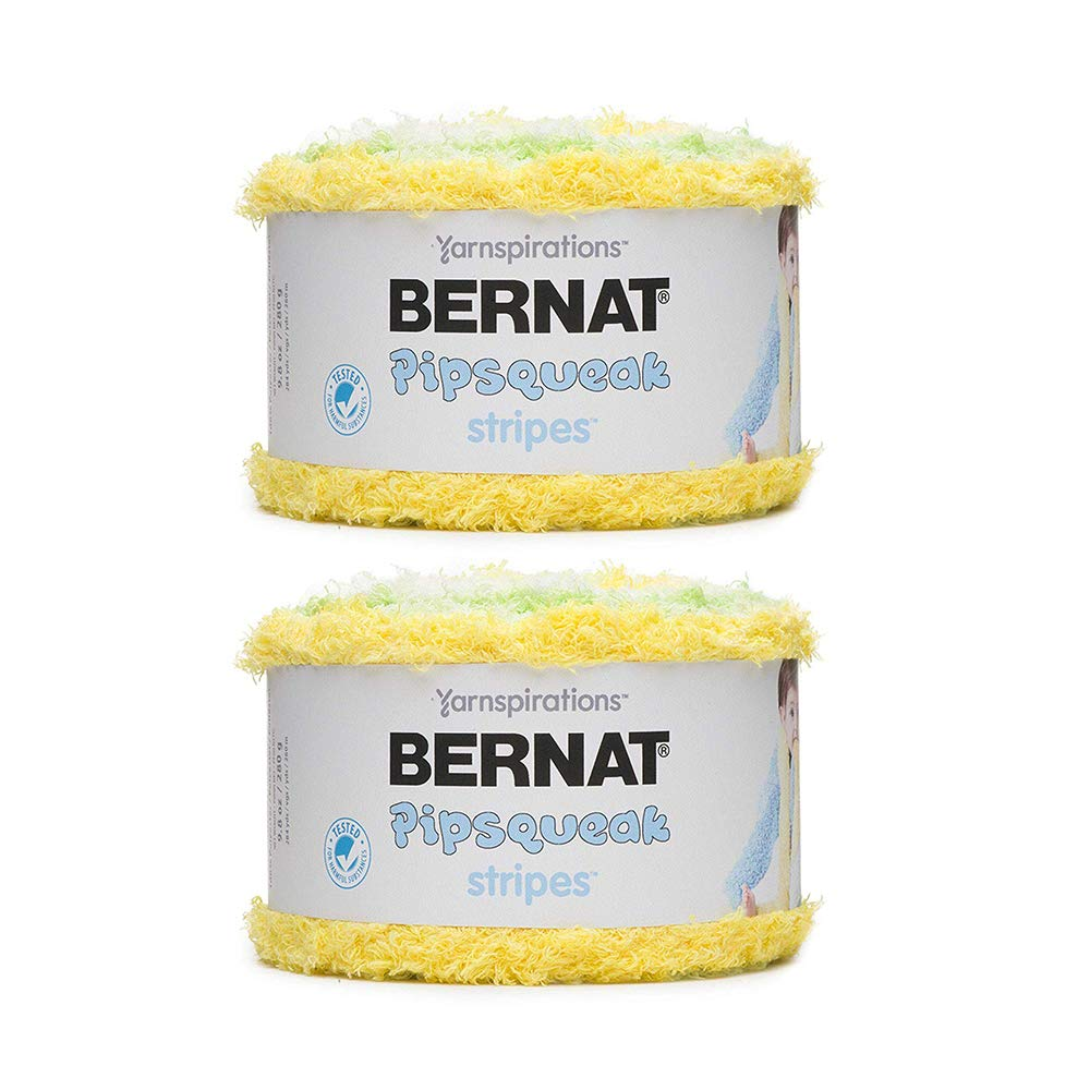 Bernat Pipsqueak Stripes Yarn, Daffodil 2-Pack