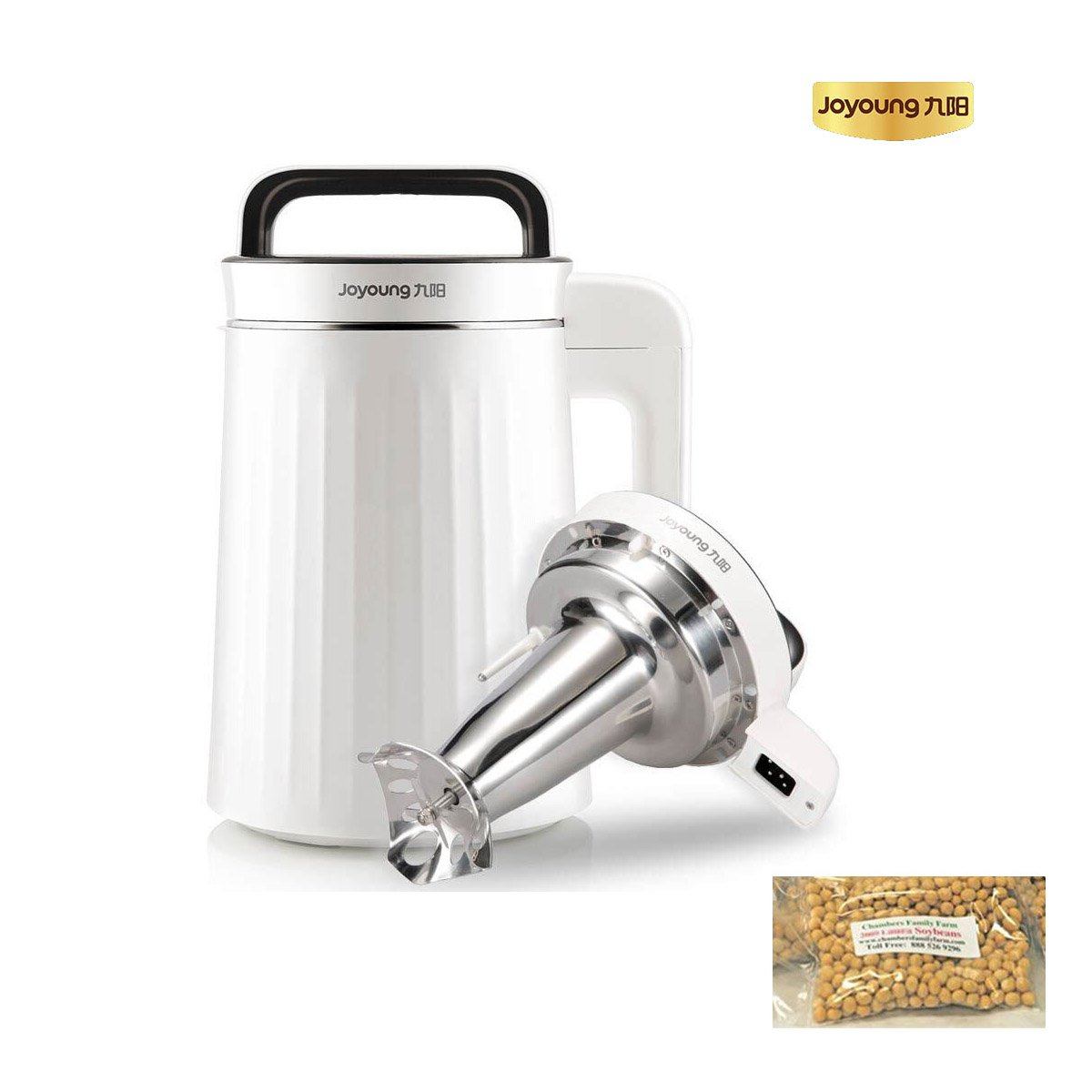 [Official] BONUS PACK! Joyoung DJ13U-G91 Easy-Clean With Warming Feature Automatic Hot Soy Milk Maker with FREE Soybean Bonus Pack - 1 Year Official Warranty Coverage