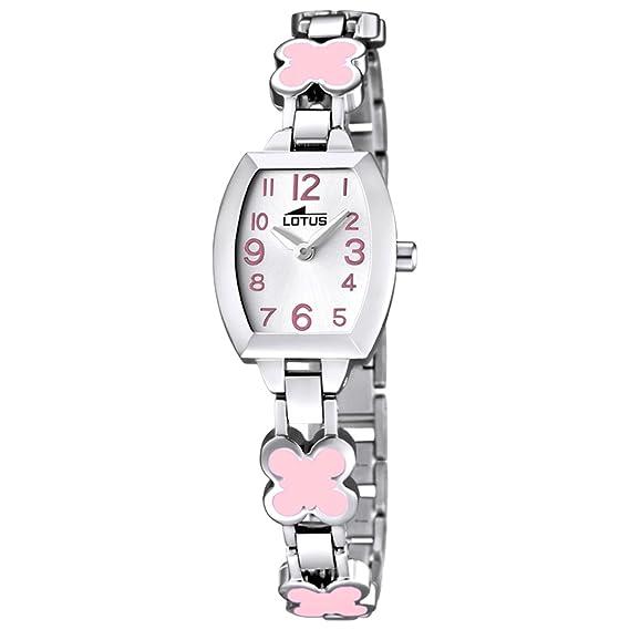 Lotus Reloj Analógico para Nios de Cuarzo con Correa en Acero Inoxidable 15771/2: Lotus: Amazon.es: Relojes