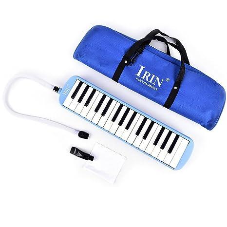 snnplapla 32 Clave Melodica instrumento musical con funda de transporte para principiantes, estudiantes, color