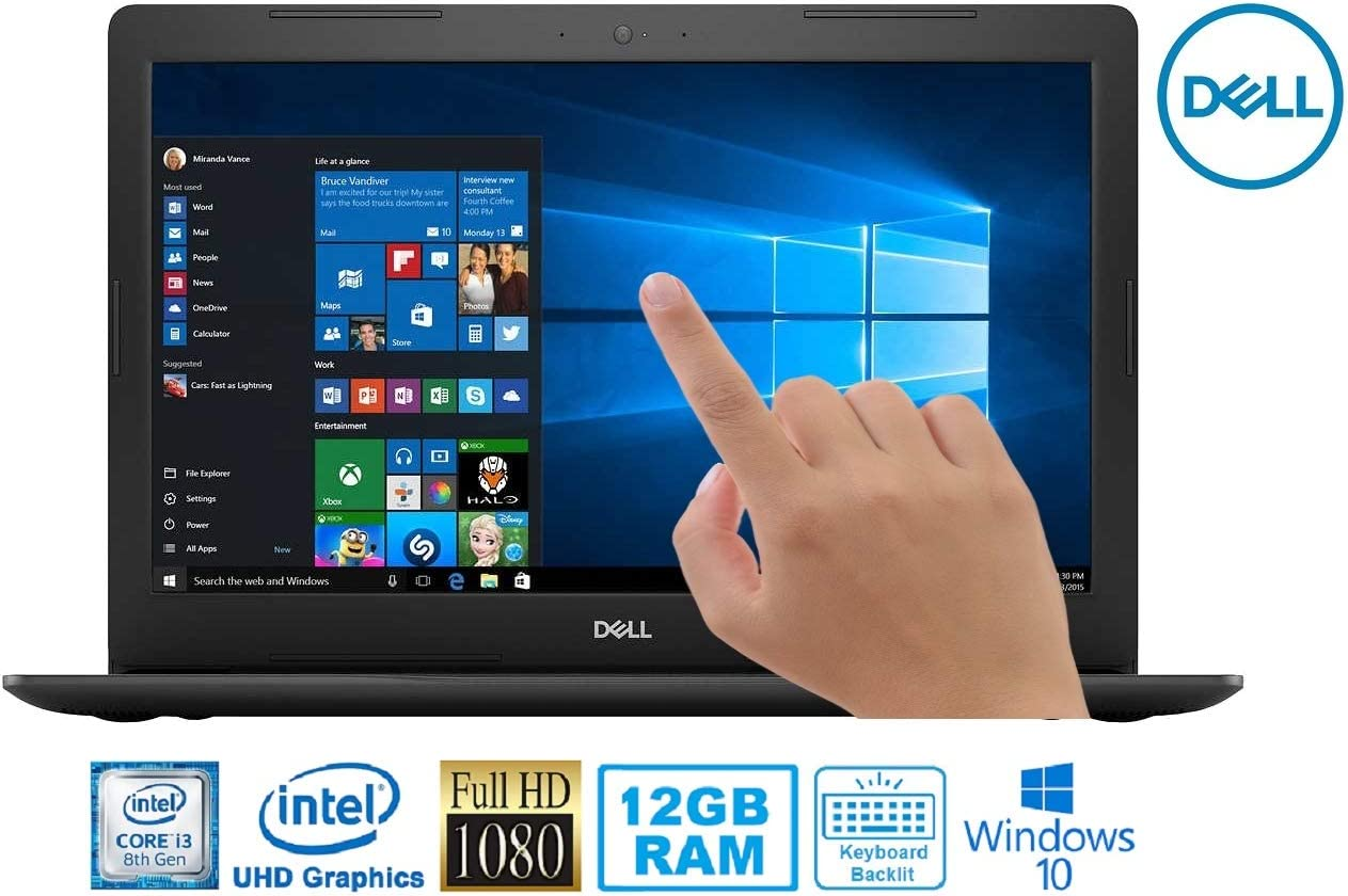 """Dell Inspiron 5000 Intel Core i3-8130U 12GB 1TB HDD 15.6"""" FHD Touch WLED Laptop"""