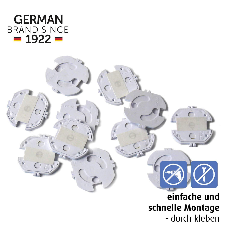 color blanco 10 unidades Tapones de seguridad para enchufes Reer 3246.010