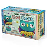 SadoCrafts Paint Your Own Bank - Fun Interactive DIY Owl Bank - Educational Arts and Craft Paint Ceramic For Kids Ages 7 and Above