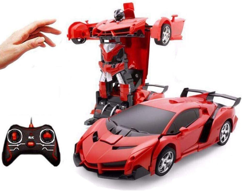 Robot de automóvil para niños,Transformador de control remoto Juguetes para robots de automóvil con Deformación de detección de gestos en un botón Demo automática,luz/música,El regalo para los niños: Amazon.es: Hogar