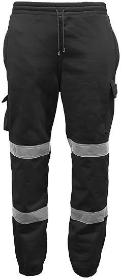 Mens Sweat Pants Hi Vis Visibility Safety Jogging Trouser Work Pants ... 7409f6aca1d