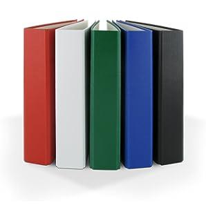 100 Prospekthüllen 3x Ringbuch Farbe 4-Ring Ordner rot DIN A5