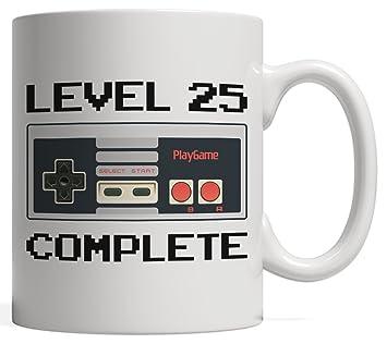 Amazon Level 25 Complete Gamer Birthday Mug