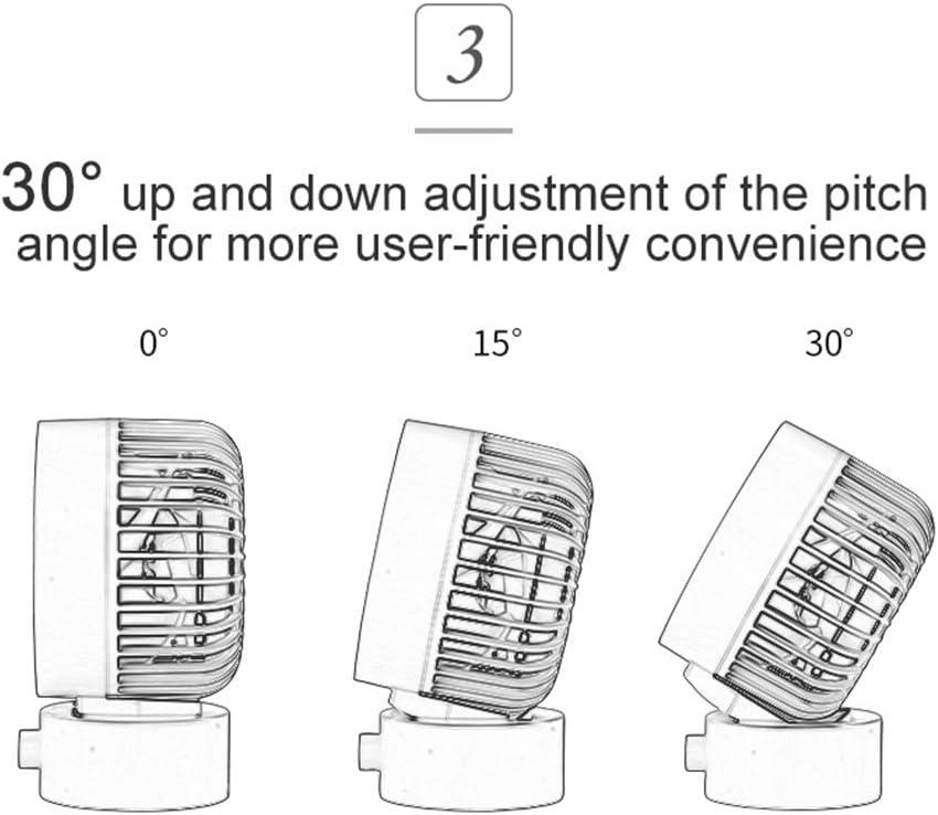 Dual Fan Blades Desk Fan Noiseless USB Fan with Adjustable Head Mini Size Desktop Fan for Home Office Outdoor Travel 2 Speeds