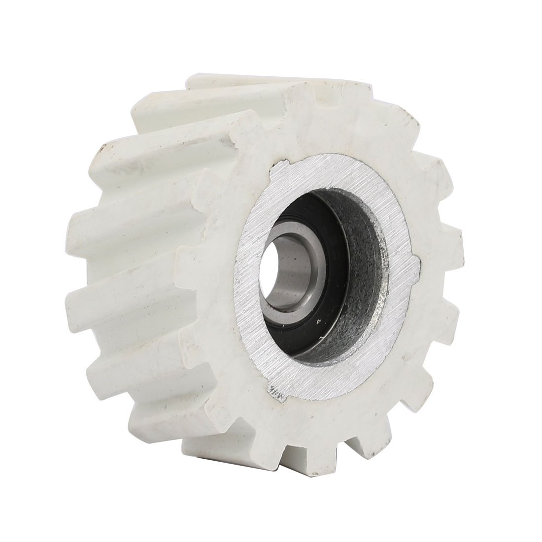 uxcell 65mmx12mmx28mm Bearing Steel Rubber Pinch Roller Edgebanding Wheel Pulley White
