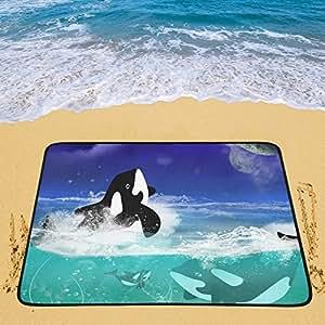 Happy más Custom bajo el agua las Orcas portátil y plegable (60x 78cm