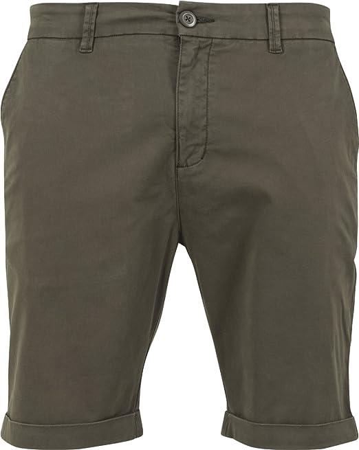 Stretch Turnup Chino Shorts Pantalones cortos Aceituna Urban Classics ymuVIiTnuG