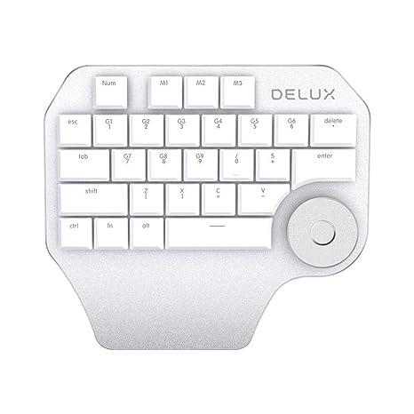Docooler Teclado Delux T11 Designer Teclado con Teclas personnalisées del Grupo Smart Dial 3 para Windows
