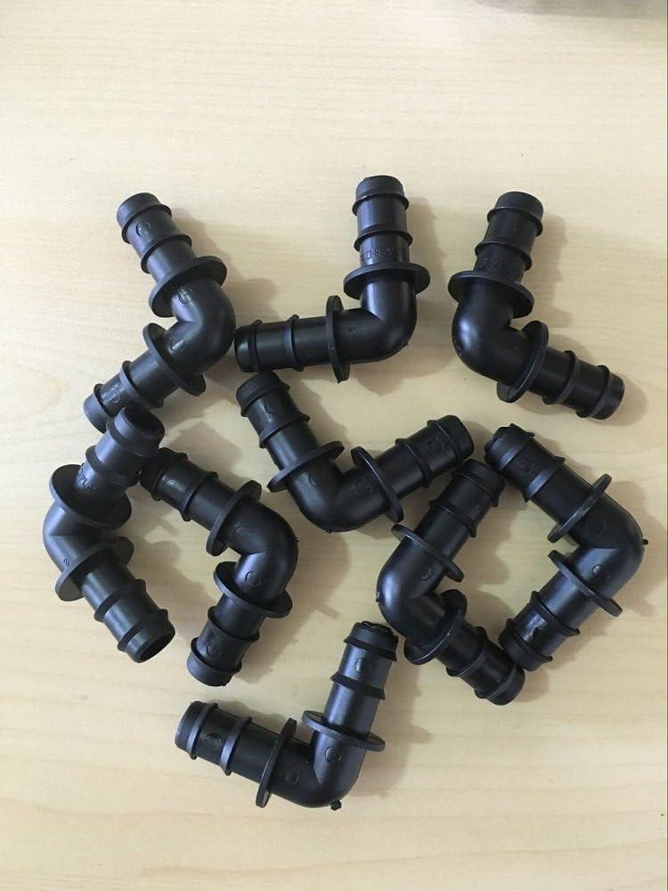 20pcs 16 mm codo de púas Conector Tubo de ajuste a presión para ...