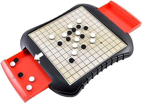 TOYANDONA Go Set de Juegos con Cajón de Almacenamiento Portátil Magnético Educativo Plástico Reversi Juego de Mesa Juego de Gobang para Adultos Niños Niños: Amazon.es: Juguetes y juegos