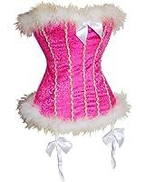 Ya Lida Women's Sexy Sweetheart Candy Cane Bow Santa Christmas Costume