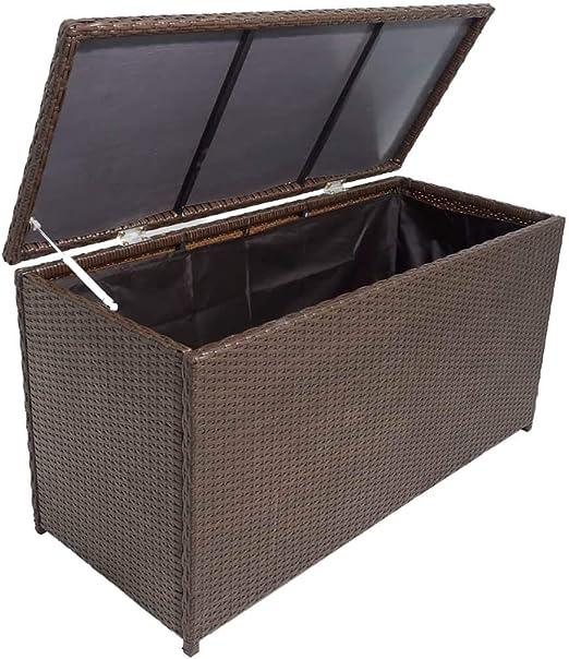 honglianghongshang Arcón de Almacenamiento para jardín Poli ratán marrónMobiliario Mobiliario de Exterior Cajas de almacenaje para Exteriores: Amazon.es: Hogar