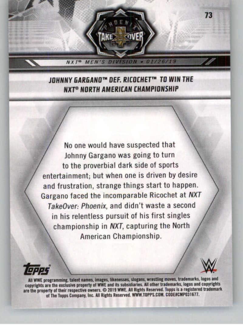 2019 Topps WWE NXT #73 Johnny Gargano Wrestling Trading Card