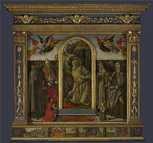 Oil Painting 'S. Gerolamo Altarpiece 1490, Francesco Botticini' 10 x 11 inch / 25 x 27 cm , on High Definition HD canvas prints is for Gifts And Dining Room, Gym And Living Room (Amish Dining Room China Cabinet)